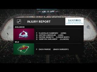 NHL 2017/11/24 RS: Colorado Avalanche vs Minnesota Wild | FS North