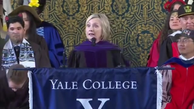 Hillary Clinton makes remarks at Class Day at Yale University