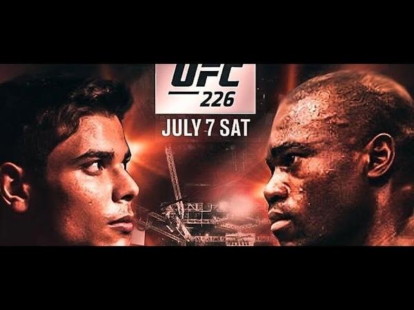 UFC 226 URIAH HALL vs PAULO BORRACHINHA COSTA