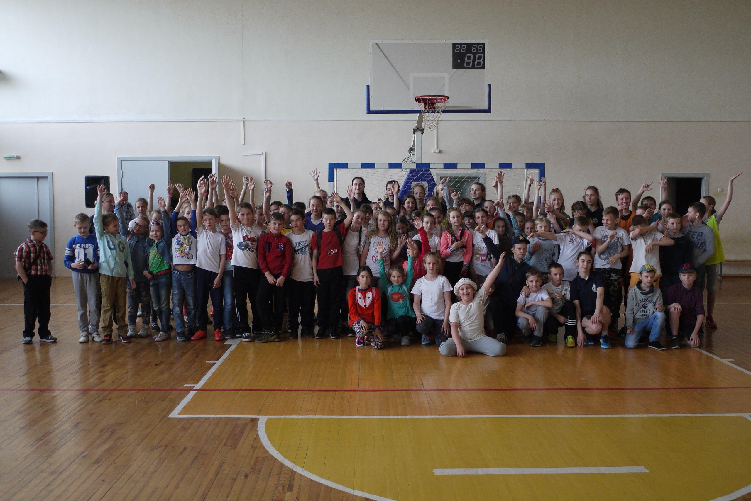 Встреча учащихся школы с представителями Витебского областного клуба по игровым видам спорта