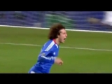 David Luiz scored the first goal for Chelsea