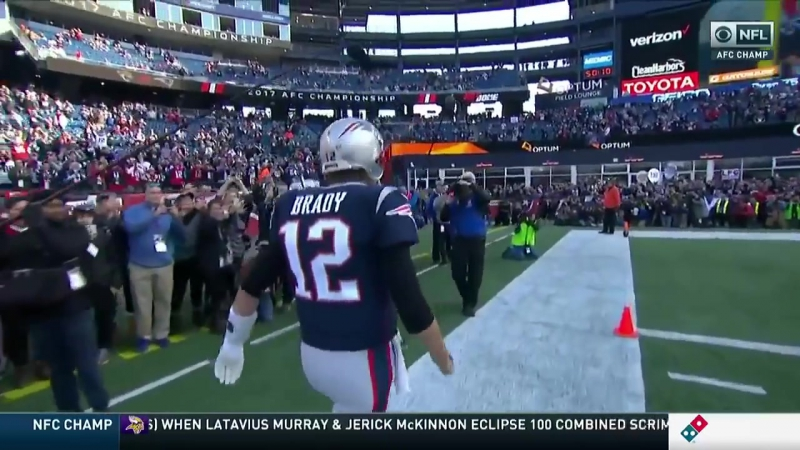 """Tom Brady Tells Cameraman To """"Get The F Outta The Way"""" After When Running Onto Field"""