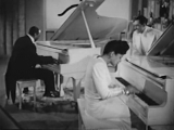 Jazz Pianist, Dorothy Donegan With The Cab Calloway Orchestra And A Group Of Jitterbugs