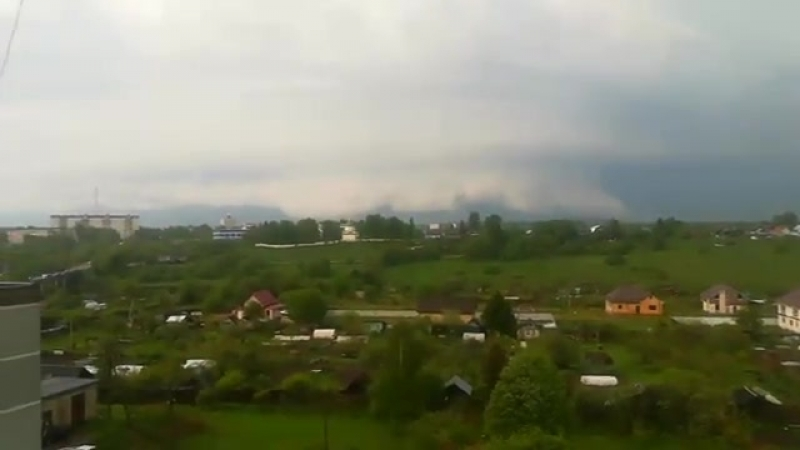 Мезоциклон вблизи Торжка Тверская область Россия 17 Мая 2018