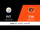 NFL 2017 / W13 / Pittsburgh Steelers - Cincinnati Bengals / CG / EN