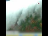 облачное море на горах в районе Шэньнунцзя