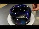 How To Make A Galaxy Theme Birthday Cake Simple And Easy Technique
