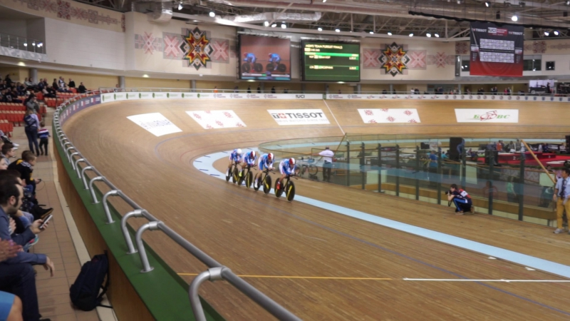 UCI Track Cycling World Cup V.Men's Team Pursuit.Final 1-2 .LOK - KGF