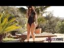 Charlotte SPringeR CharleY S brunette in black bodysuit 2