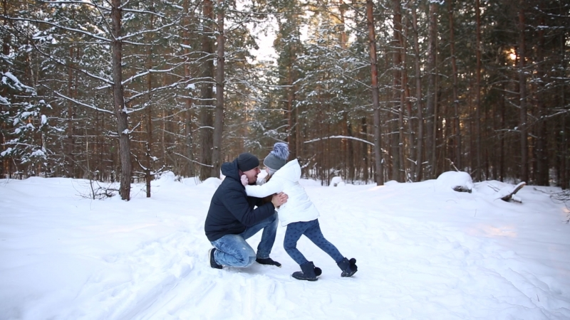 Зимние выходные )Папа с дочкой)
