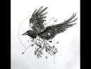 Рисуем с Вороном Ghost Dark Raven что то рисую 3 часть 1