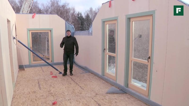 Монтаж дома по сборно-панельной технологии