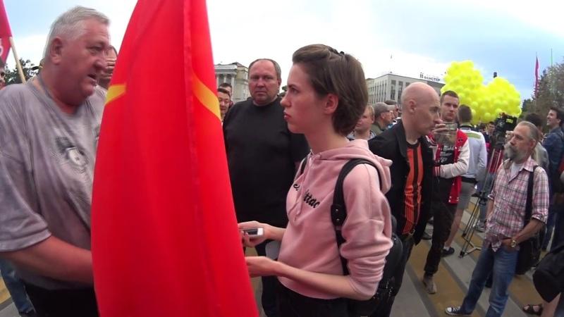 Интервью о правах граждан СССР на недра и землю. 07.06.18 на митинге в Иркутске