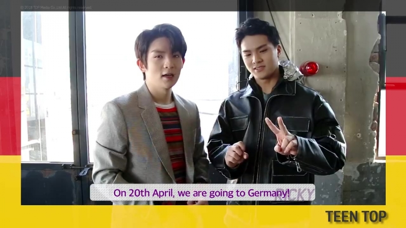 Message to German ANGEL from TEEN TOP RICKY C.A.P