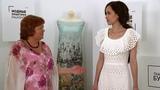 Обзор готового летнего сарафана с оборками из ткани шитье для Катерины Как сшить платье? Часть 4