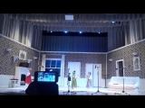 Танцевальное выступление в театре - Эмилия четвертая слева