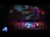 Vídeo da Elizabeth no palco do 'Avengers: Infinity War' Fan Event em Londres.