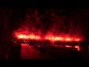 Дьявольское фаер-шоу в честь 125-летия «Славии», окрасившее небо Праги в кроваво-красный цвет