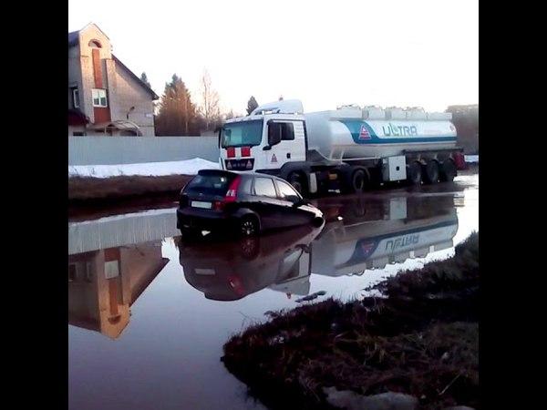 Калина утонула в луже в Кирово-Чепецке