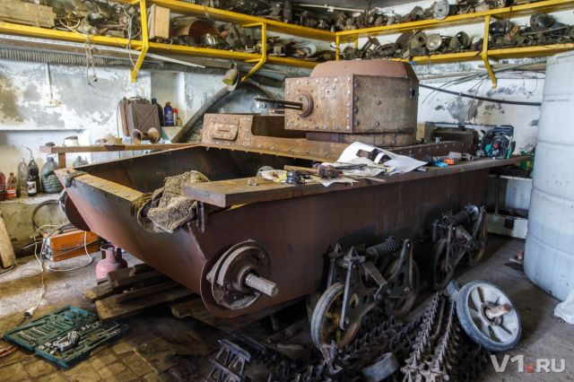 Житель Волгограда построил танк своими руками