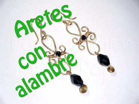 Aretes Con Alambre