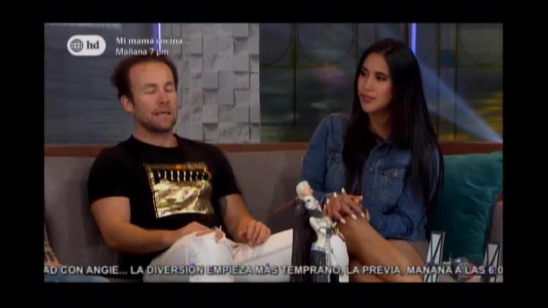 Melissa Paredes y Rodrigo Sanchez Patiño en Preguntas con Cancha