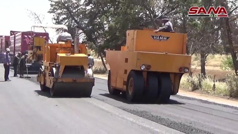 Идёт ремонт шоссе M-5 Homs - Hama