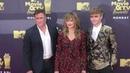 Hart Denton Madchen Amick and Lochlyn Munro at the 2018 MTV Movie And TV Awards at Barker Hangar in