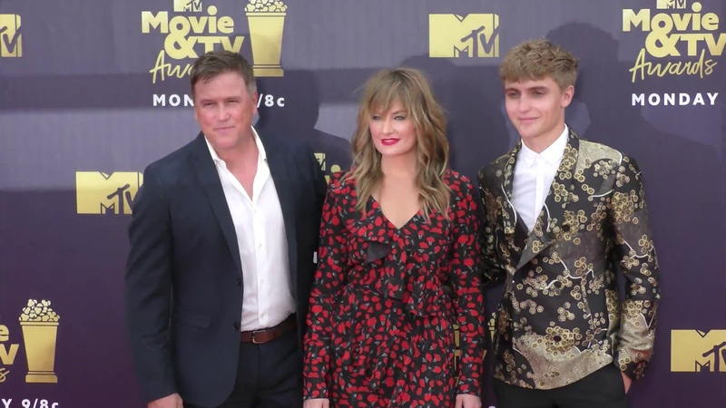 Hart Denton, Madchen Amick and Lochlyn Munro at the 2018 MTV Movie And TV Awards at Barker Hangar in