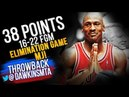 Michael Jordan Full Highlights 1998 ECR1 Game 3 Bulls vs Nets - 38 Pts, 16-22 FGM, CRAZY Shots!