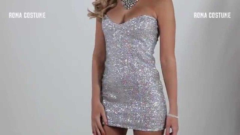 1pc Sequin Mini Dress