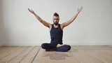 Коврик для йоги с пробковым покрытием на каучуке Hamsa