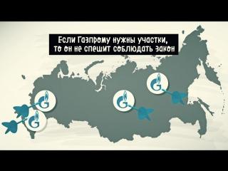 Как Газпром незаконно захватывает земли и леса