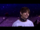 Taehyungs reaction to fans singing his part in I need u is the purest thing