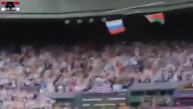 Союз братьев уронил флаг США, под гимн России