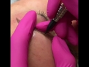 Брови в технике Волоски