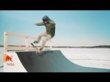 Скейтбординг на вращающейся карусели