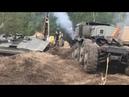 МАЗ 537 БМП 1 застрял Т 55 VT 55A Tatra 813 Bergung Rescue