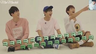 [Озвучка]BTS Gayo Узнаём песни женских групп через танцы/Track.1