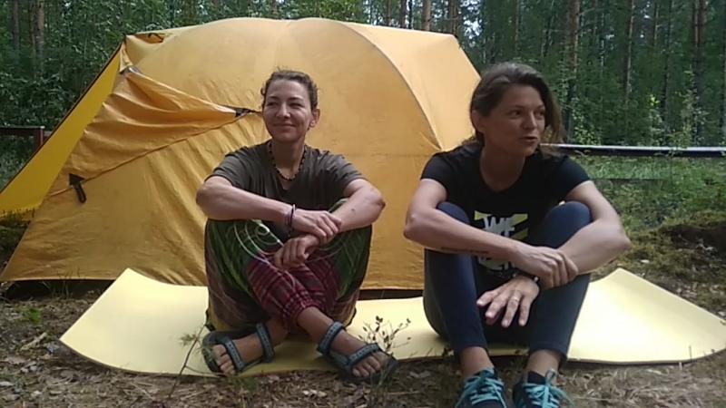 Маша и Лена о походе по озеру Сайма