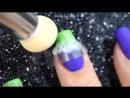 Spring nail art with aeropuffing ⁄ Весенний дизайн ногтей с аэропуффингом