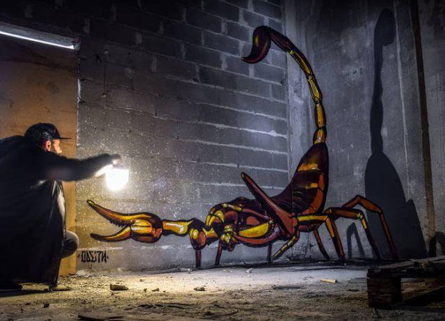 3D-рисунки на стенах