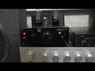 ТЕСТ АС Аудиовектор + ЦАП ЗМ РСМ 500 + Ламповый усилитель Адажио (черн.)