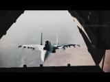 Наш истребитель заглянул в самолет сша.mp4