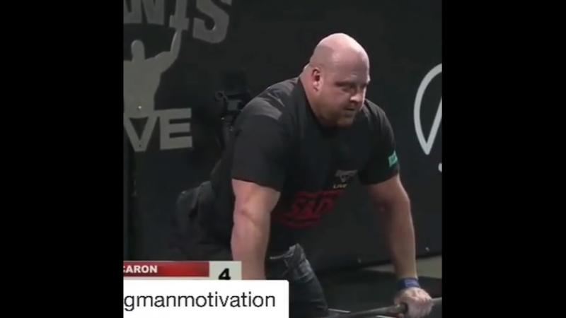 Жан Франсуа Карон - тяга 400 кг на 5
