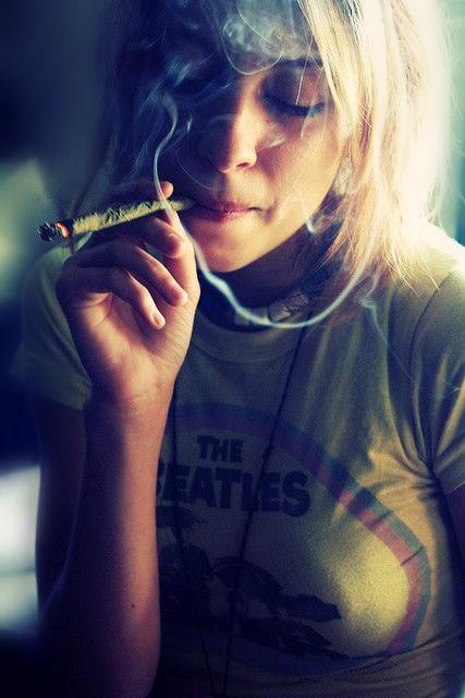 Thin girls smoking weed — img 4