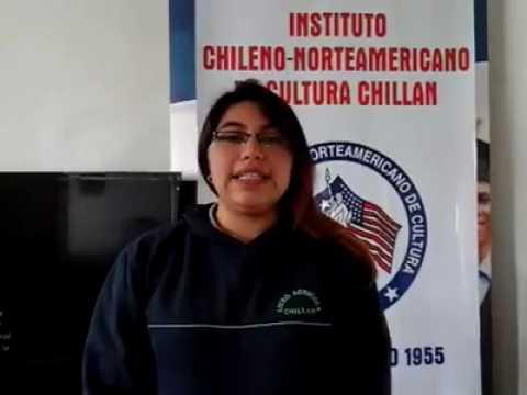 Student8 Access Microscholarship program Instituto Chileno Norteamericano de Cultura Chillán Chile