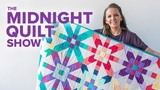 Iridescence Half-Square Triangle Quilt S6E8 Midnight Quilt Show with Angela Walters