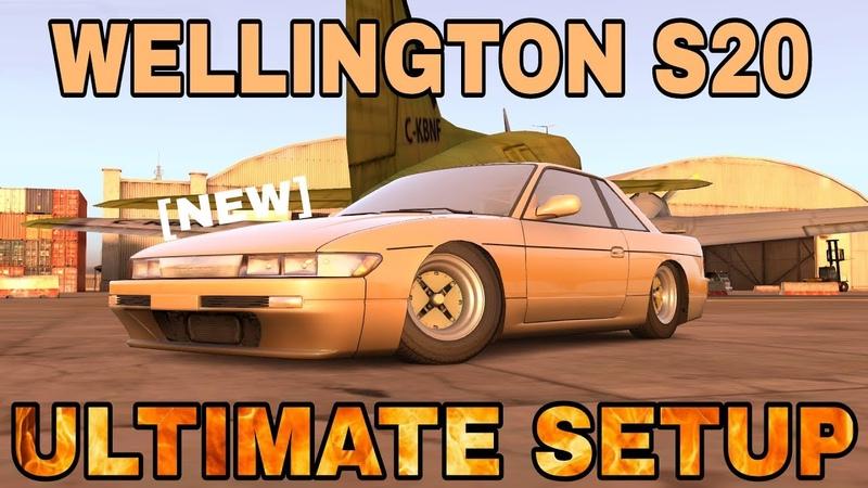 Wellington S20 Ultimate Setup (Nissan Silvia S13)   CarX Drift Racing King Of JDM