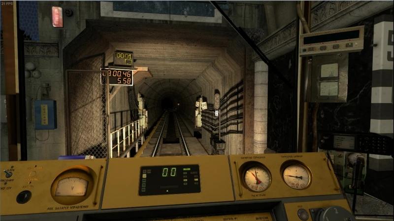 Питерский номерной в Metrostroi Subway Simulator
